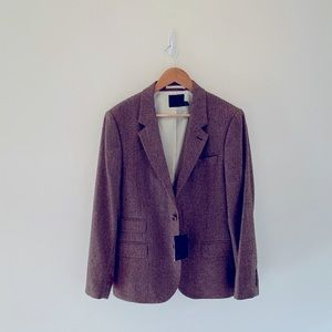 NWT's ASOS Tweed Brown Blazer size 38